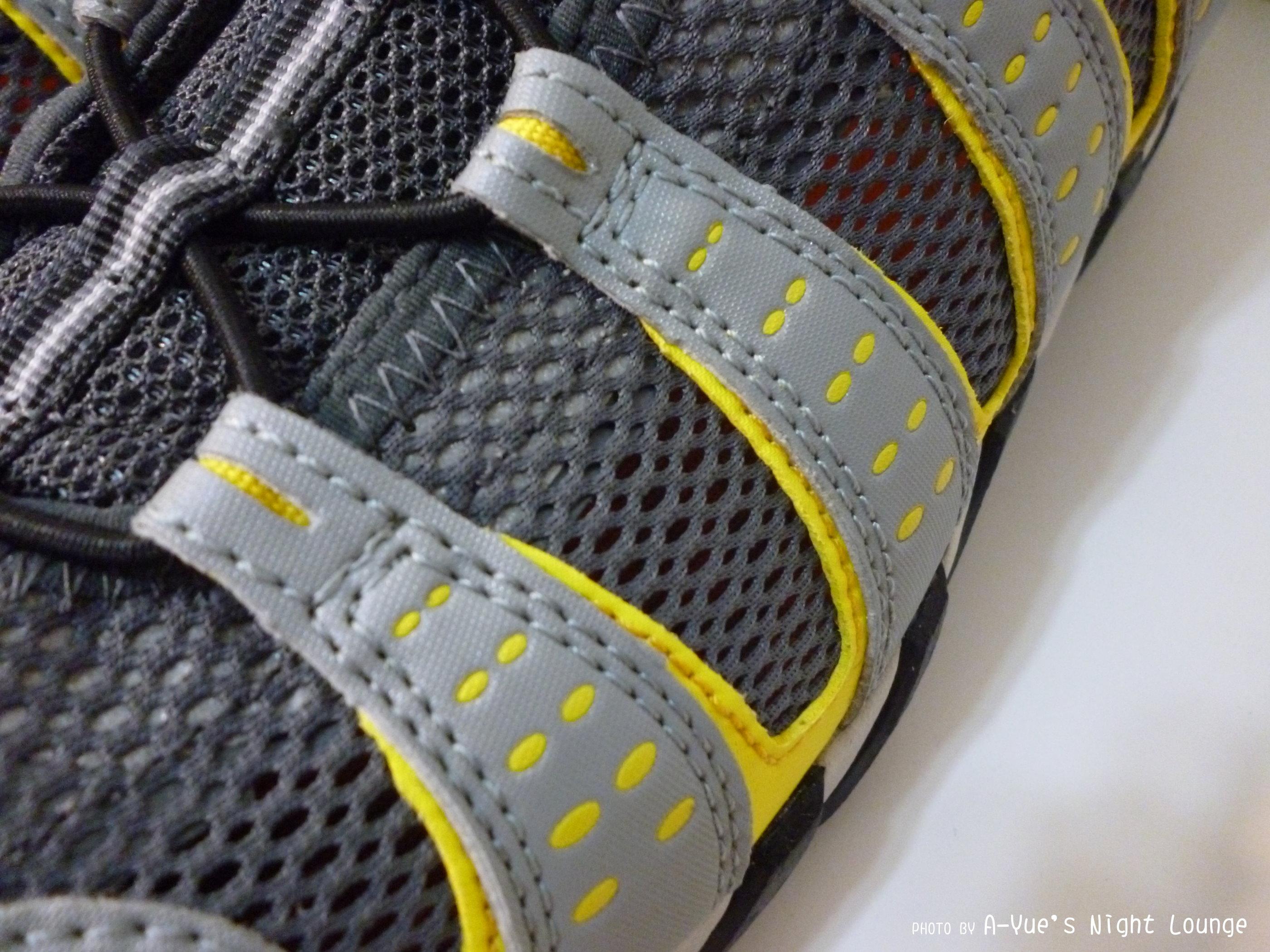 網眼布快乾材質鞋面