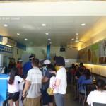 藍白色系、清新、潔淨的用餐空間